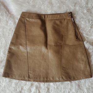 Zara Basics Brown/Camel colored Skirt